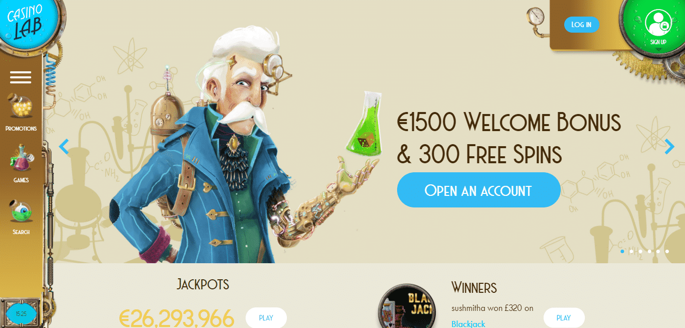 Casino Lab Homepage