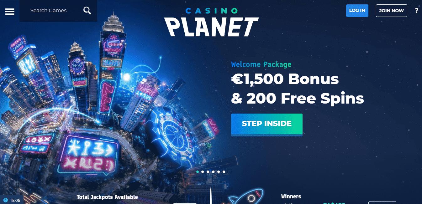 Casino Planet Homepage
