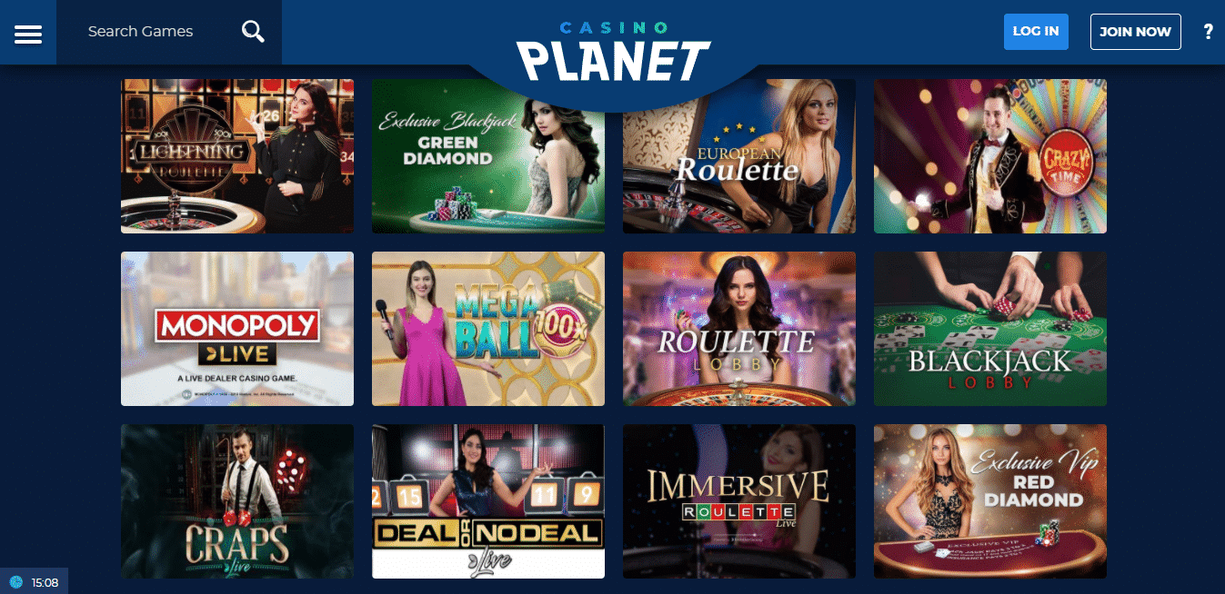 Casino Planet Live Casino