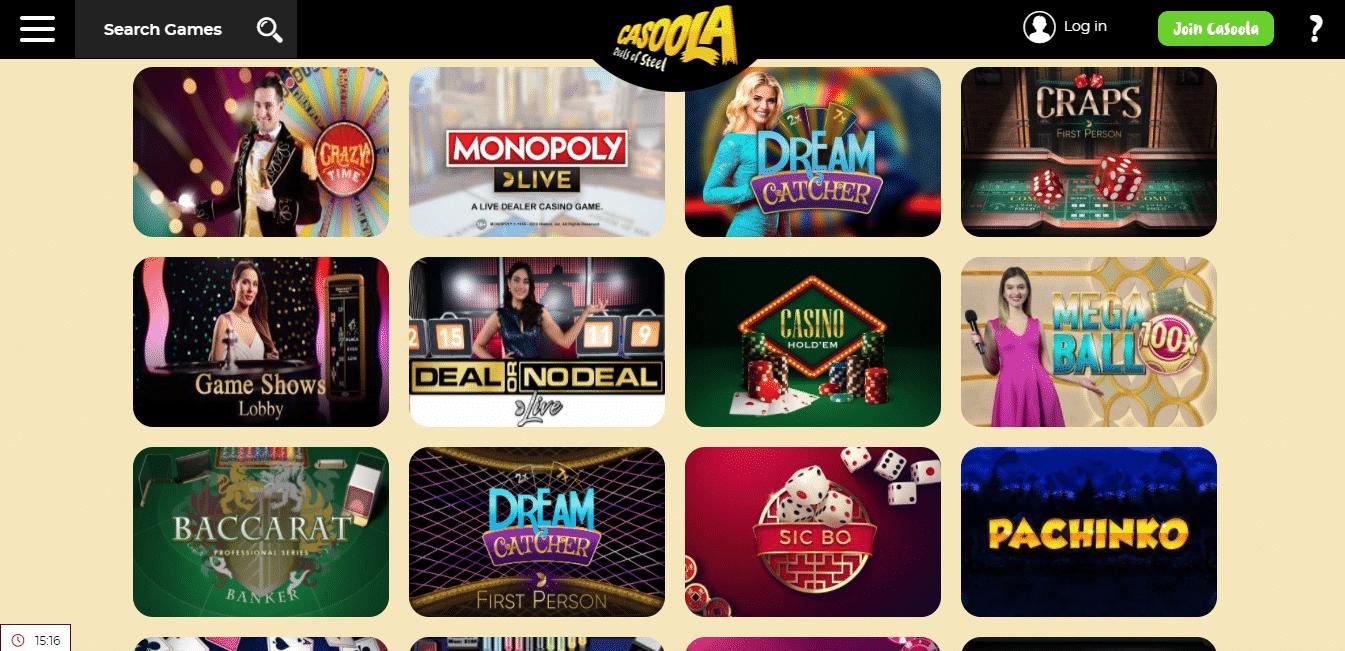 Casoola Live Casino