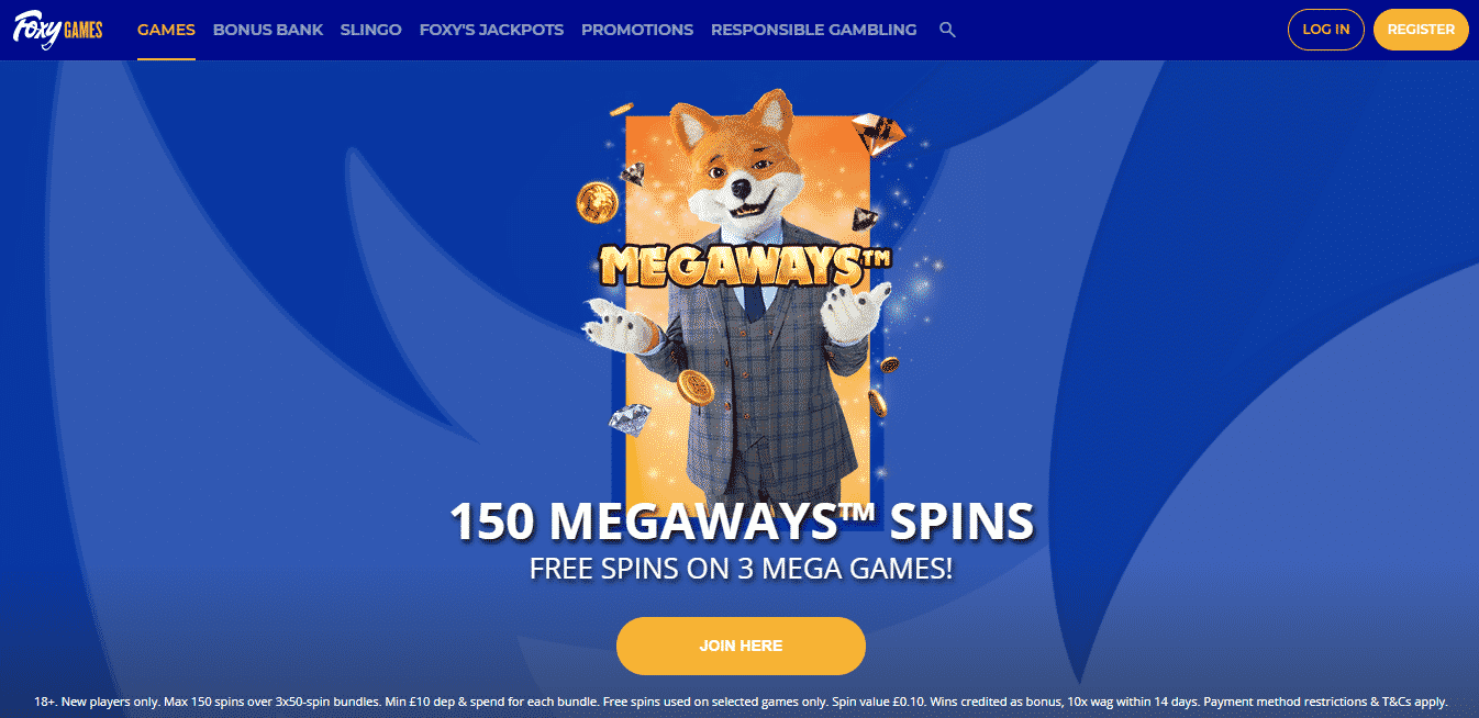 Foxy Games Homepage