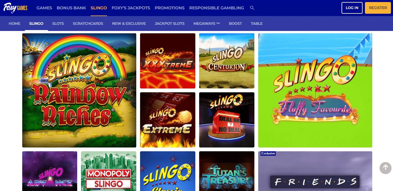 Foxy Games Slingo Selection