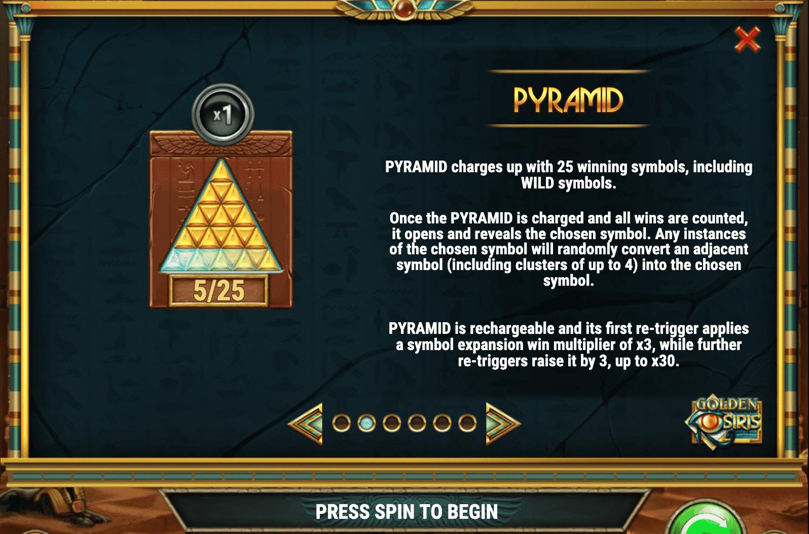 Golden Osiris Pyramid