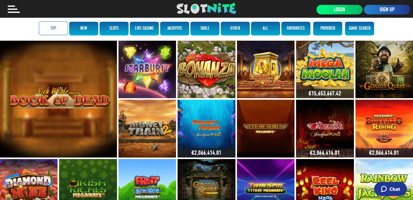 Slotnite Game Selection