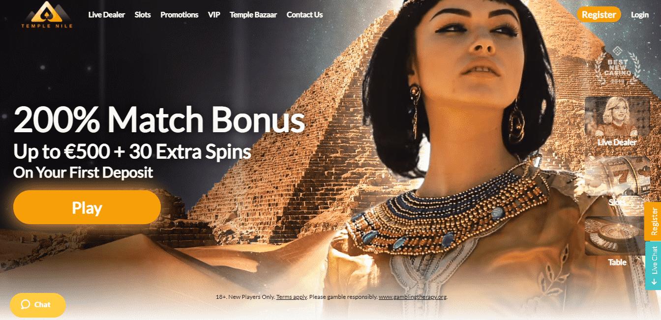 Temple Nile Homepage