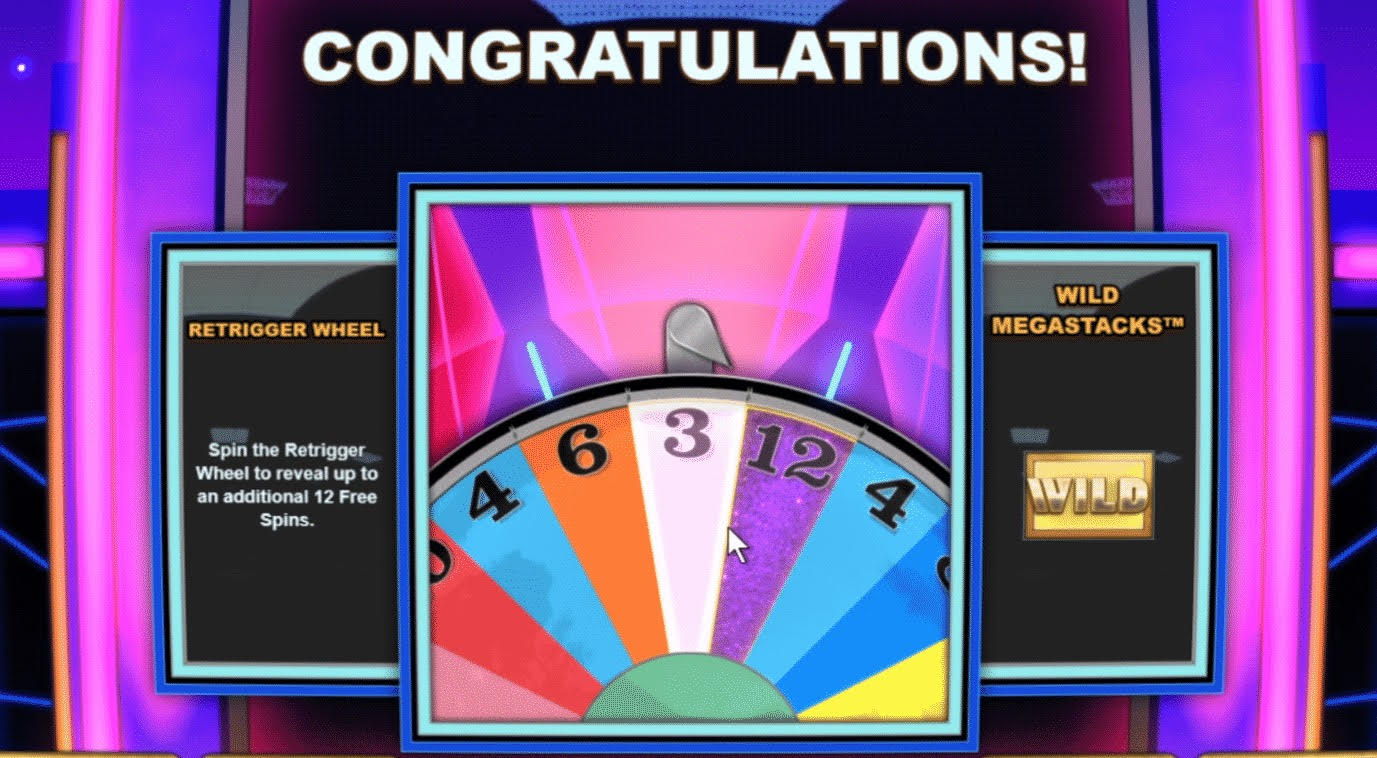 Wheel of Fortune Megaways Retrigger Wheel
