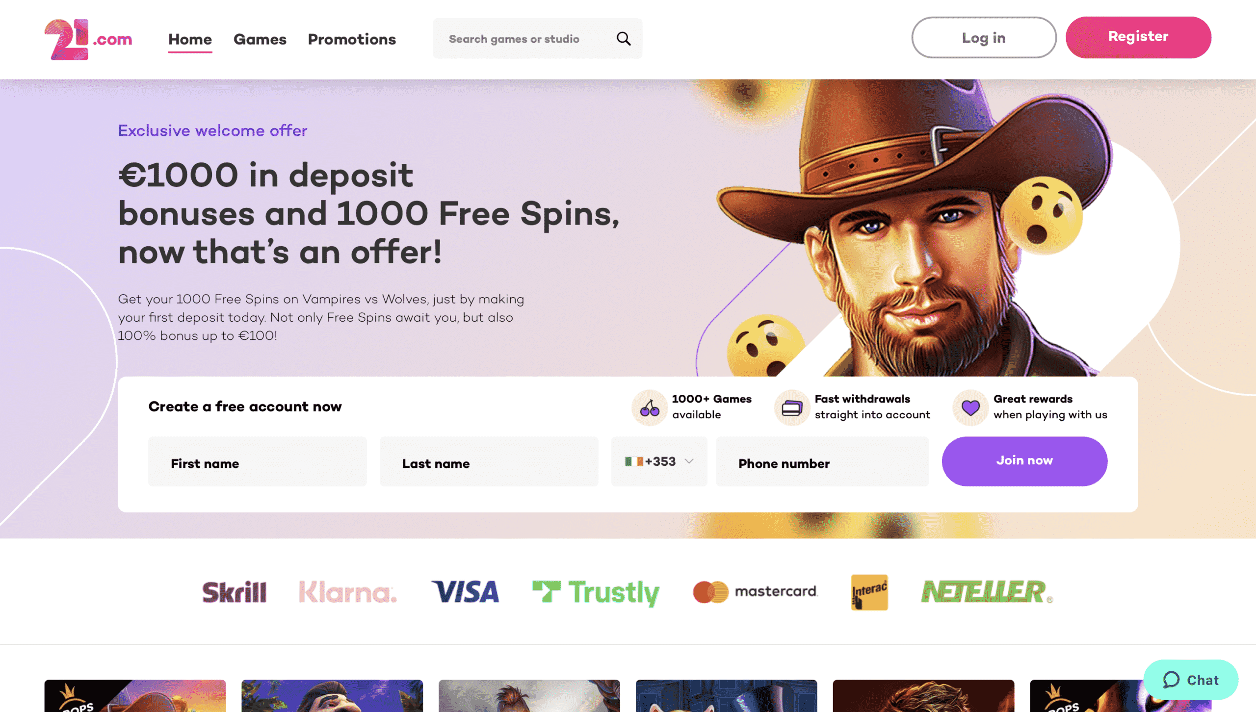 21.com Homepage