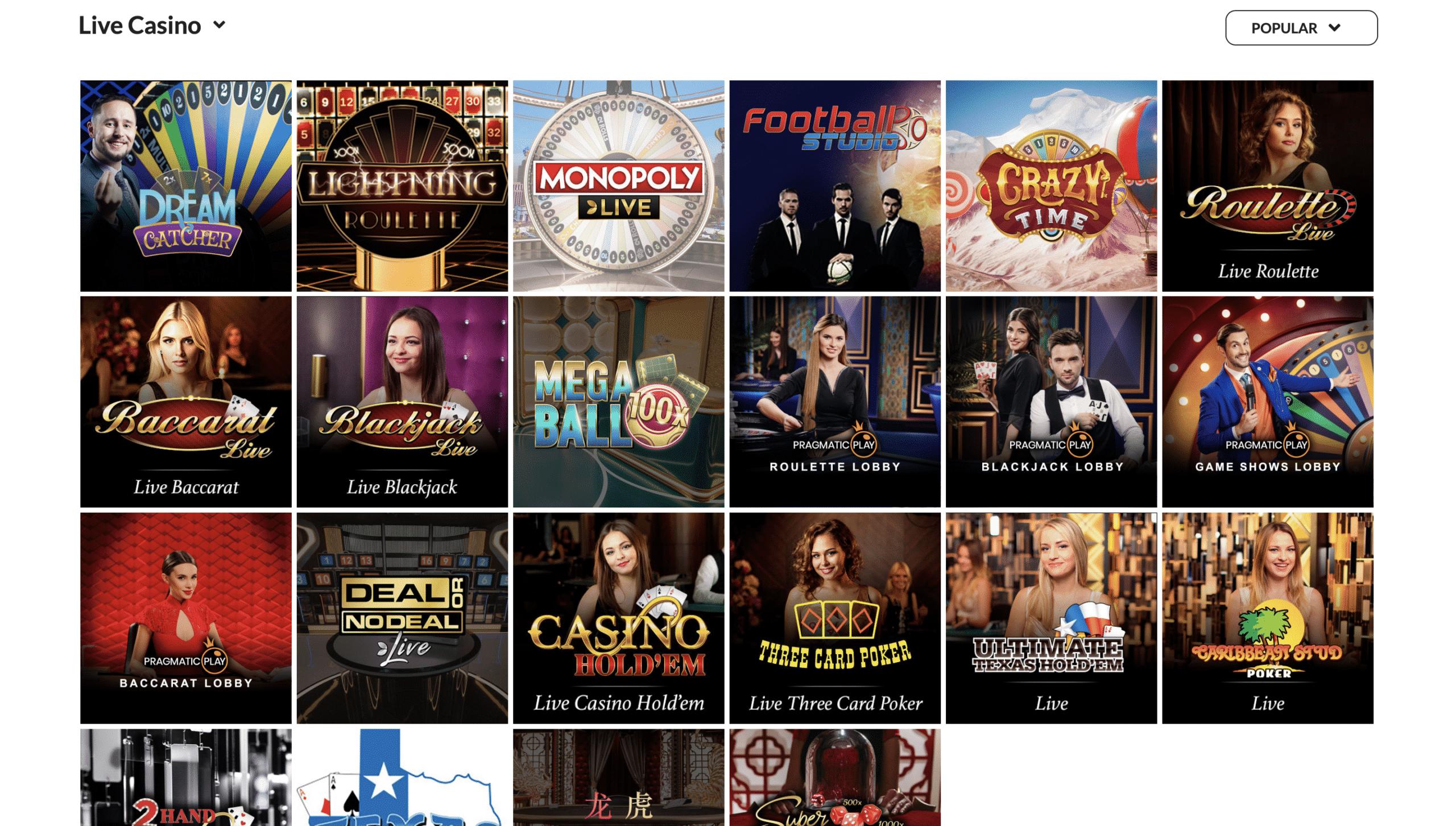 Skol Casino Live Casino
