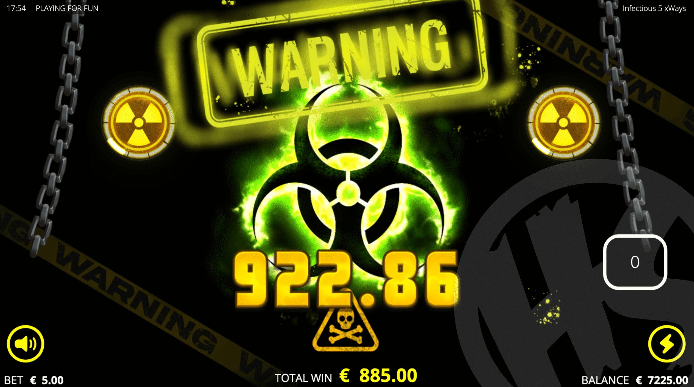 Infectious 5 xWays Big Win
