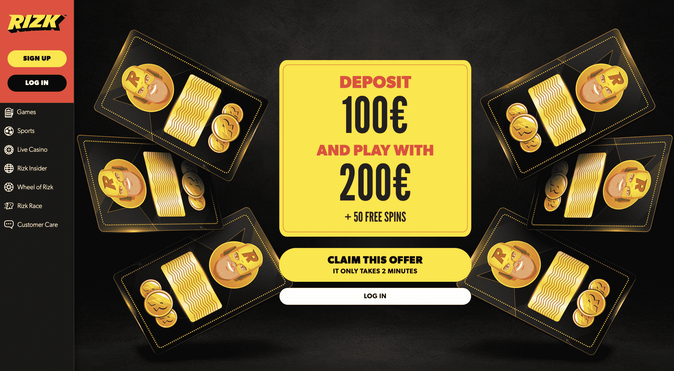 Rizk Casino Homepage