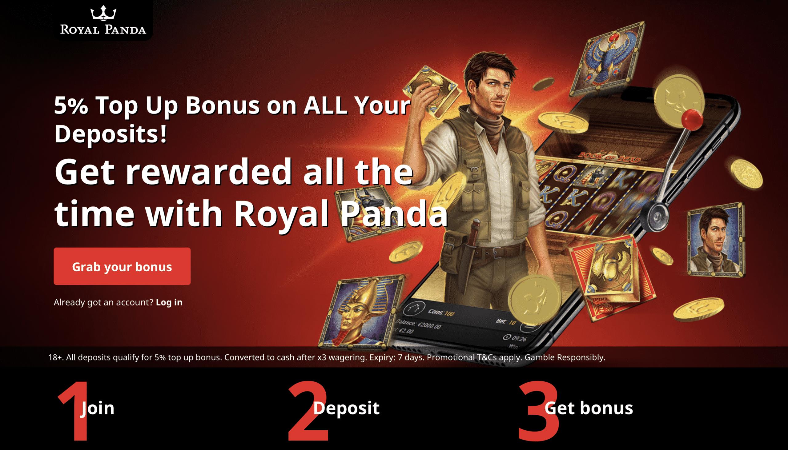 Royal Panda Homepage
