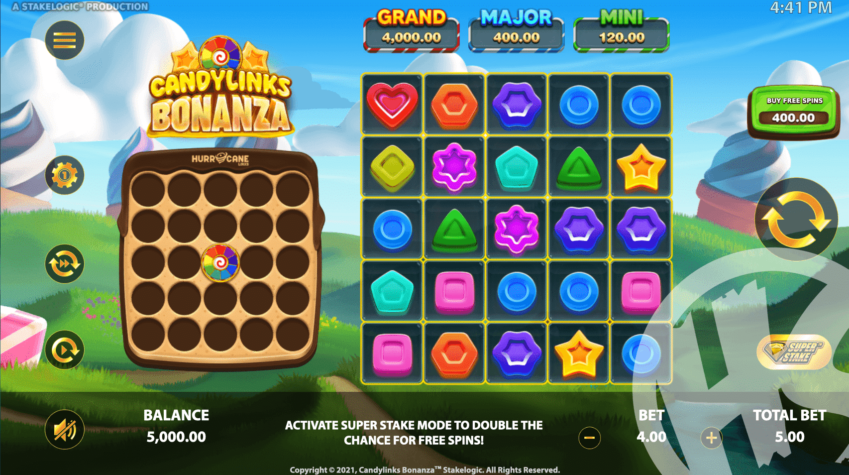 Candy Links Bonanza Base Game