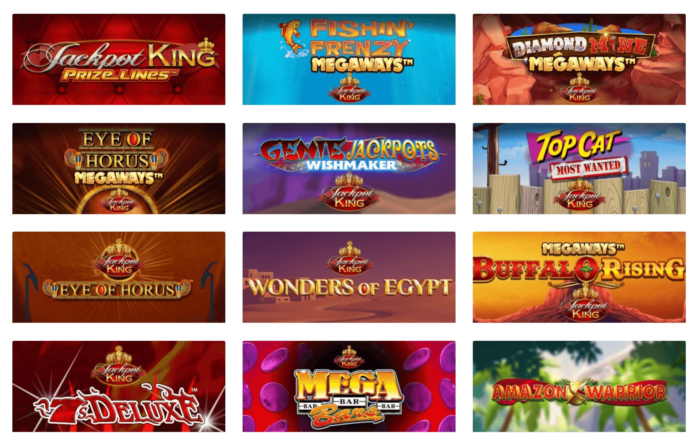Jackpot King Selection