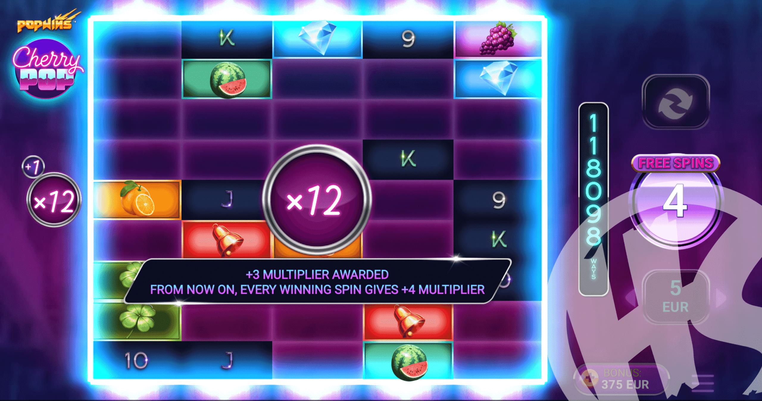 Unlock All CherryPop™ Reels to Increase The Multiplier