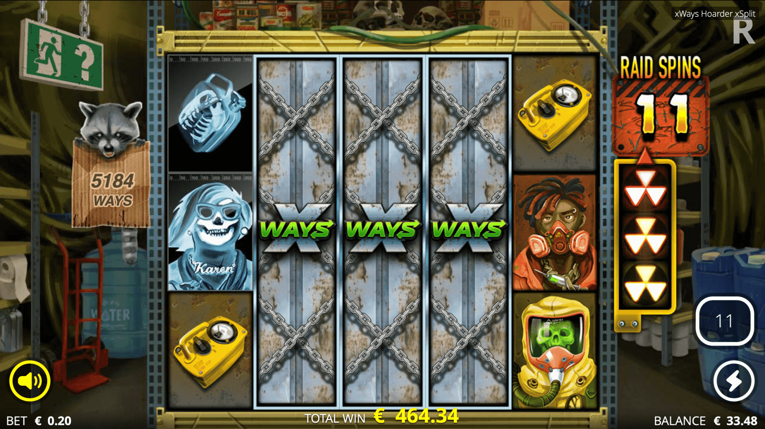 The Player In Question Progresses To Wasteland Spins with 10 Spins Remaining