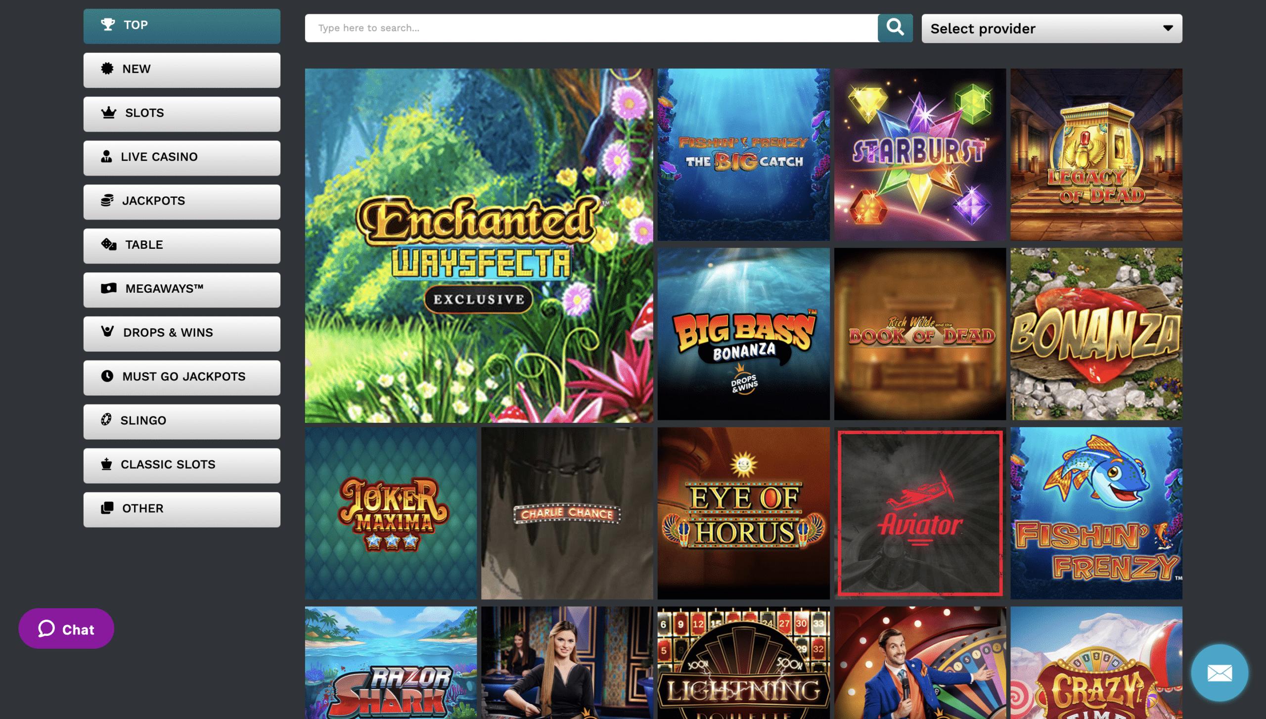 21Prive Casino Game Selection