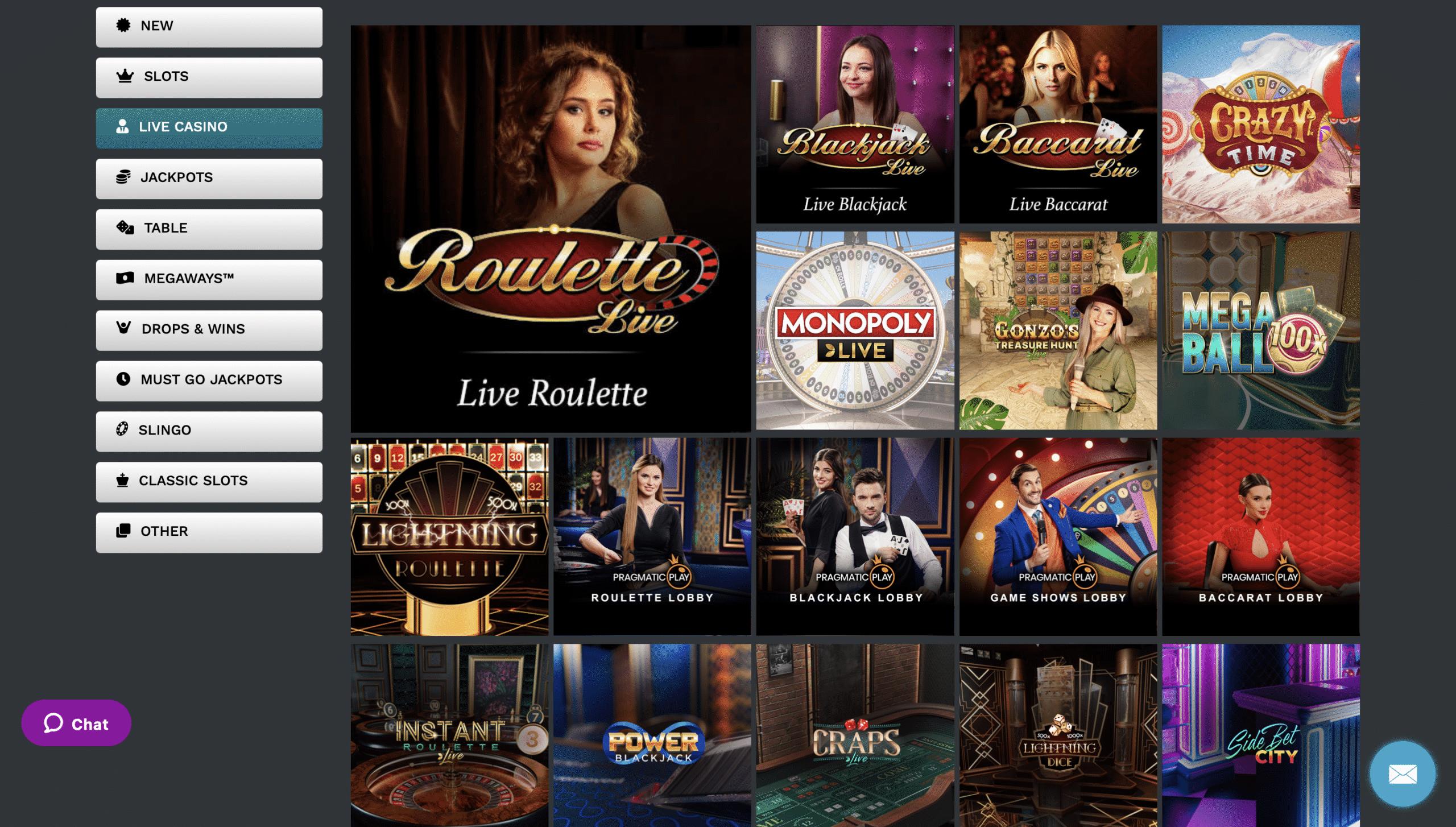 21Prive Casino Live Casino