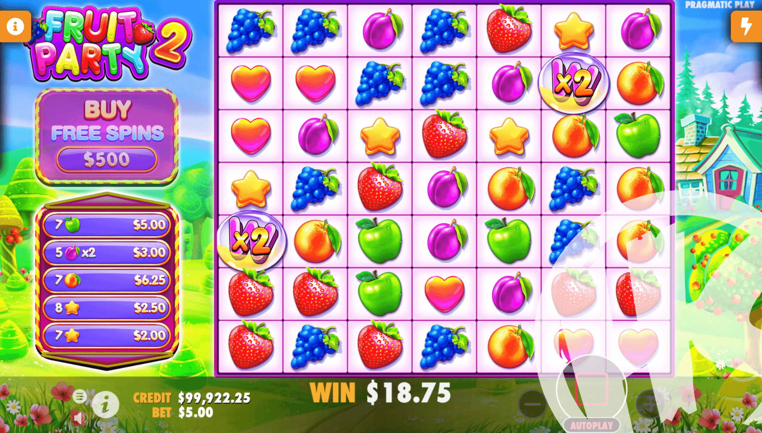 Fruit Party 2 Wild Multipliers