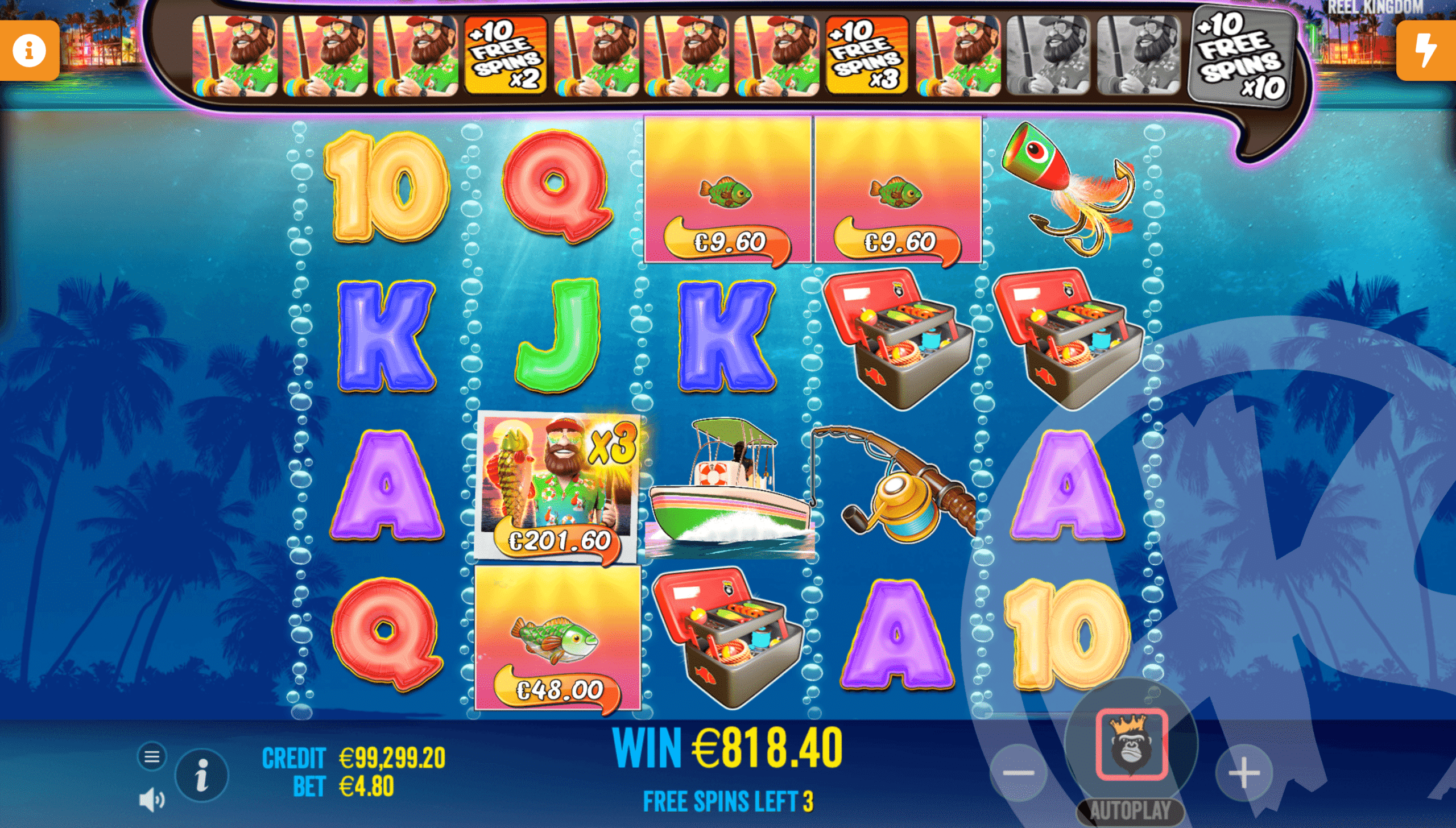 Trigger Additional Free Spins by Collecting Fishermen