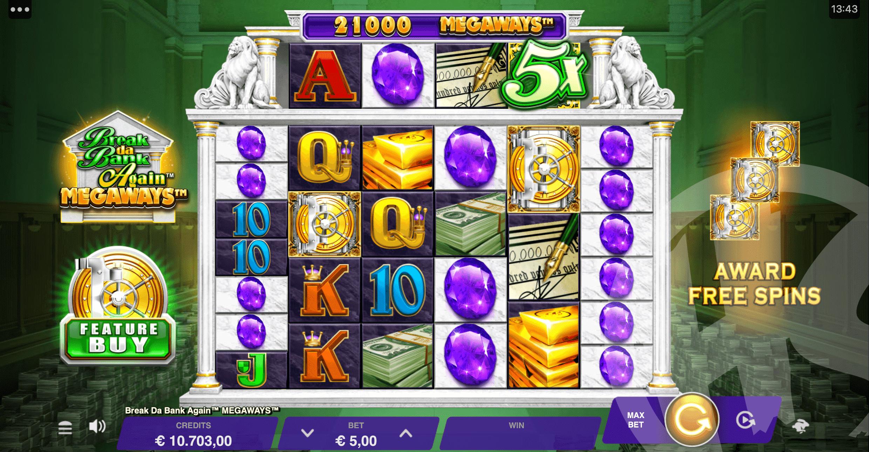 Break Da Bank Again Megaways Base Game