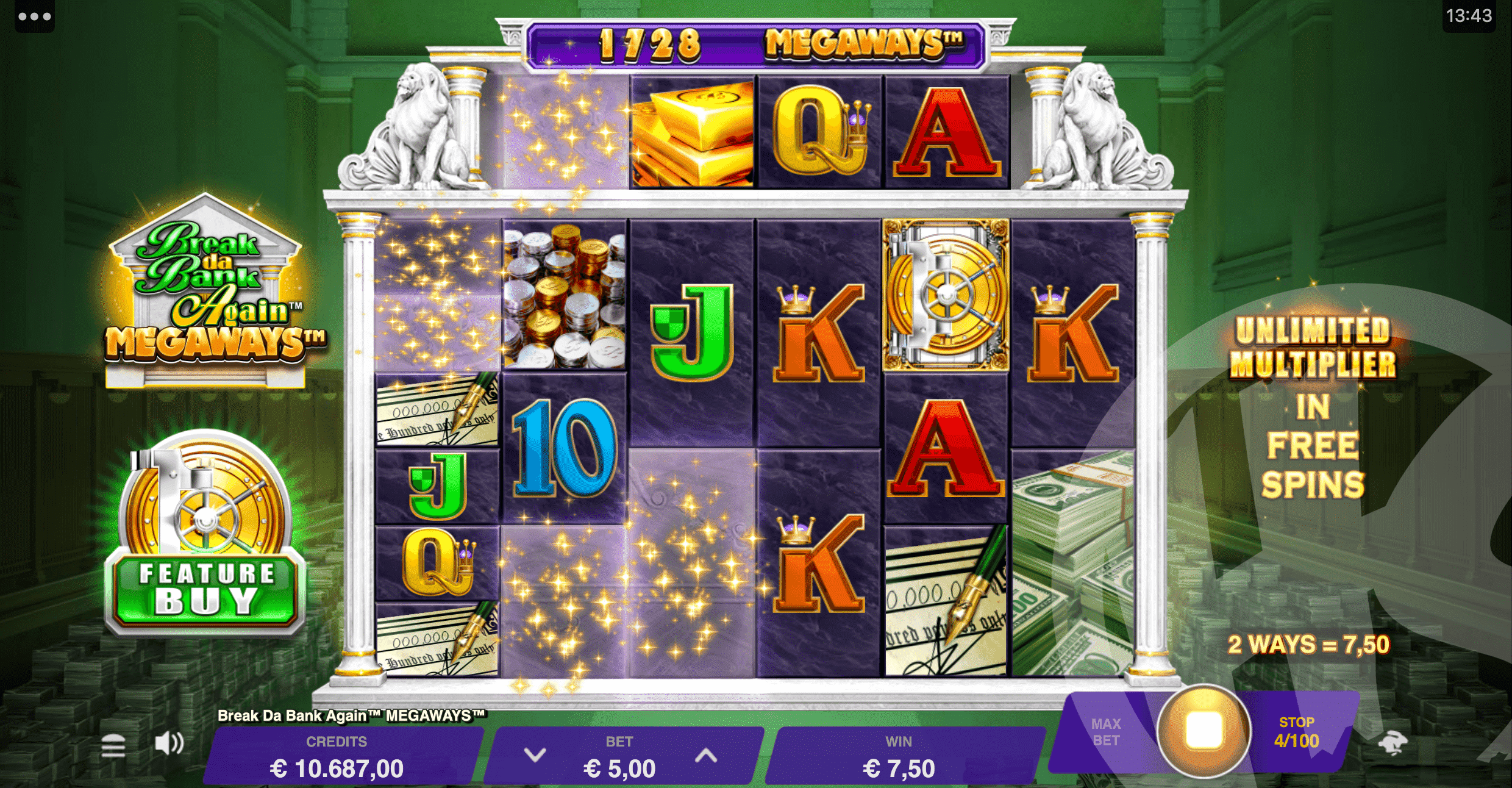 Rolling Reels are Active in The Base Game and Free Spins