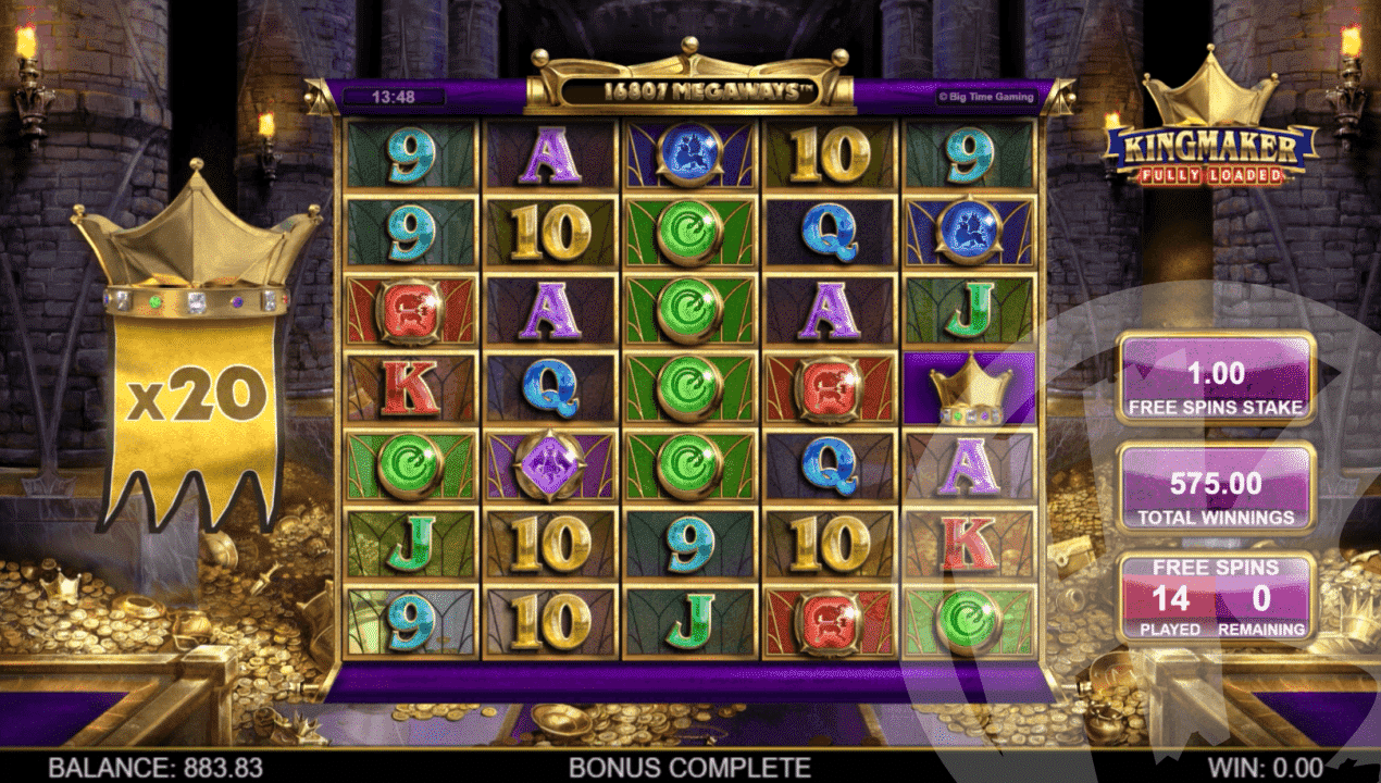Free Spins Feature (x20 Multiplier)