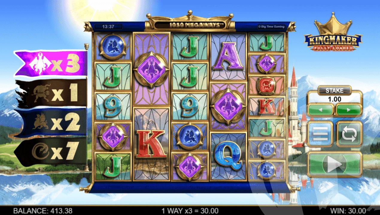 5 of a Kind Purple Gem Win (x3 Multiplier)