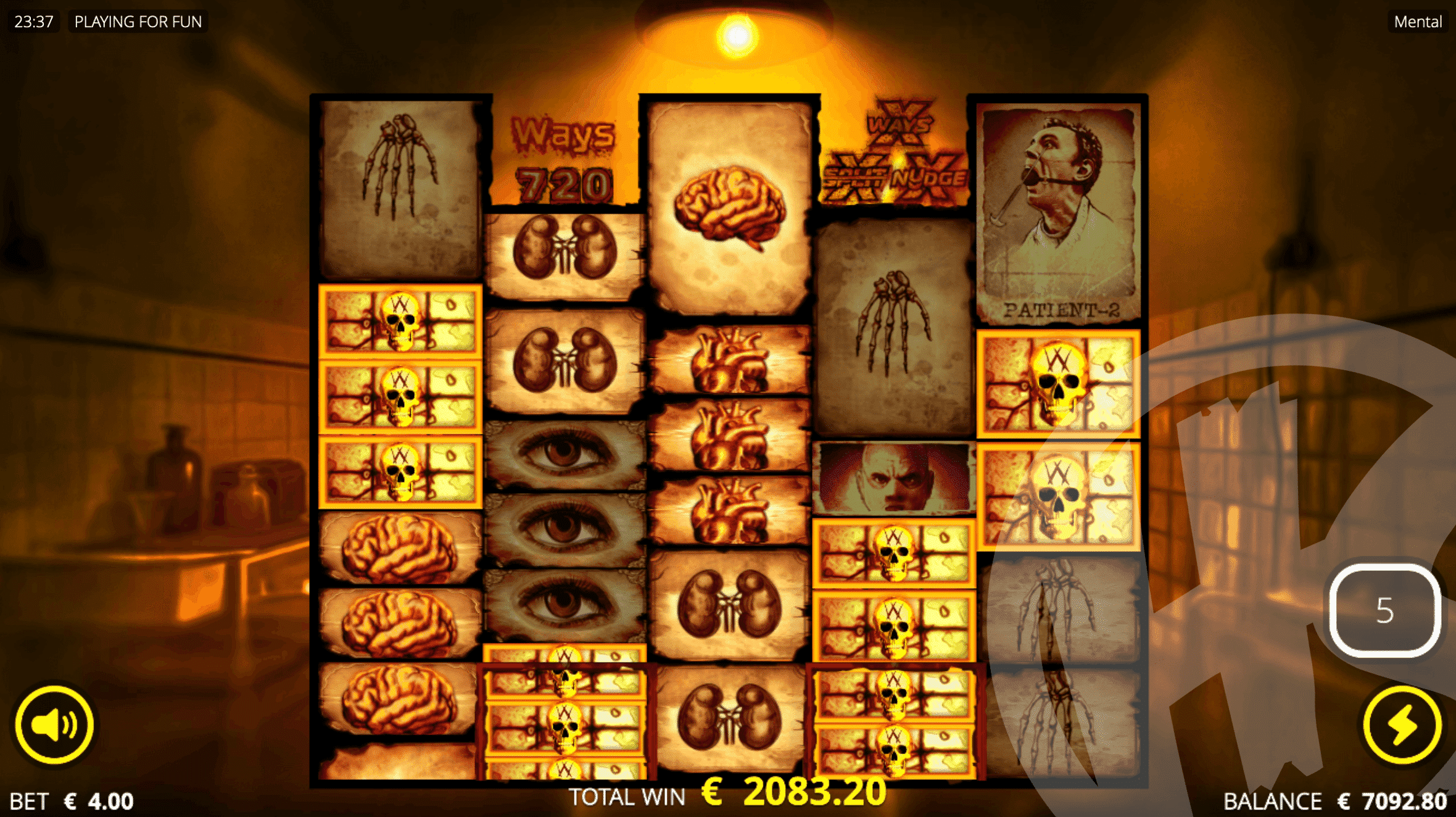Lobotomy Free Spins with Sticky Fire Frames and Spiders