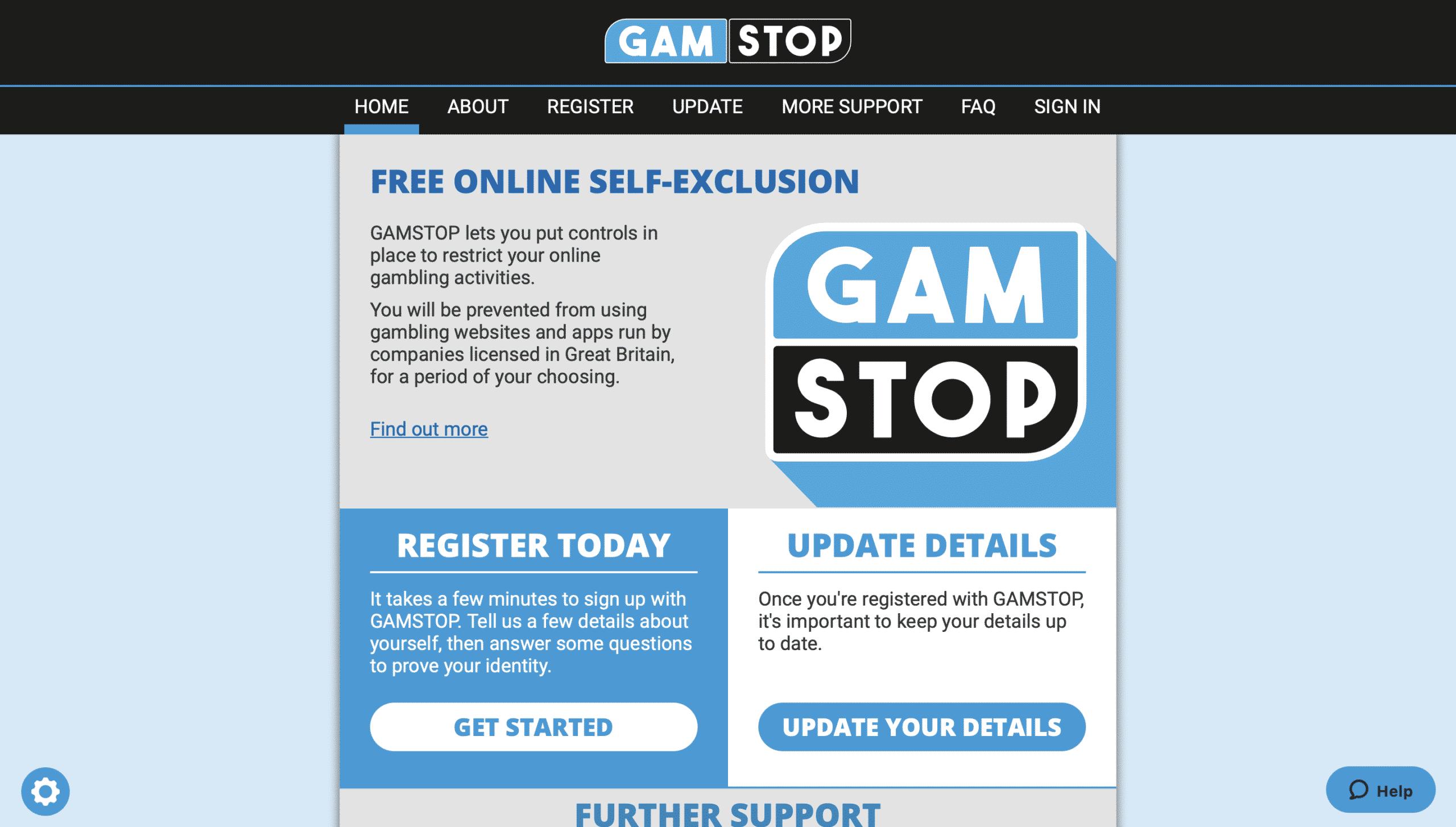 GAMSTOP Online Self Exclusion Scheme