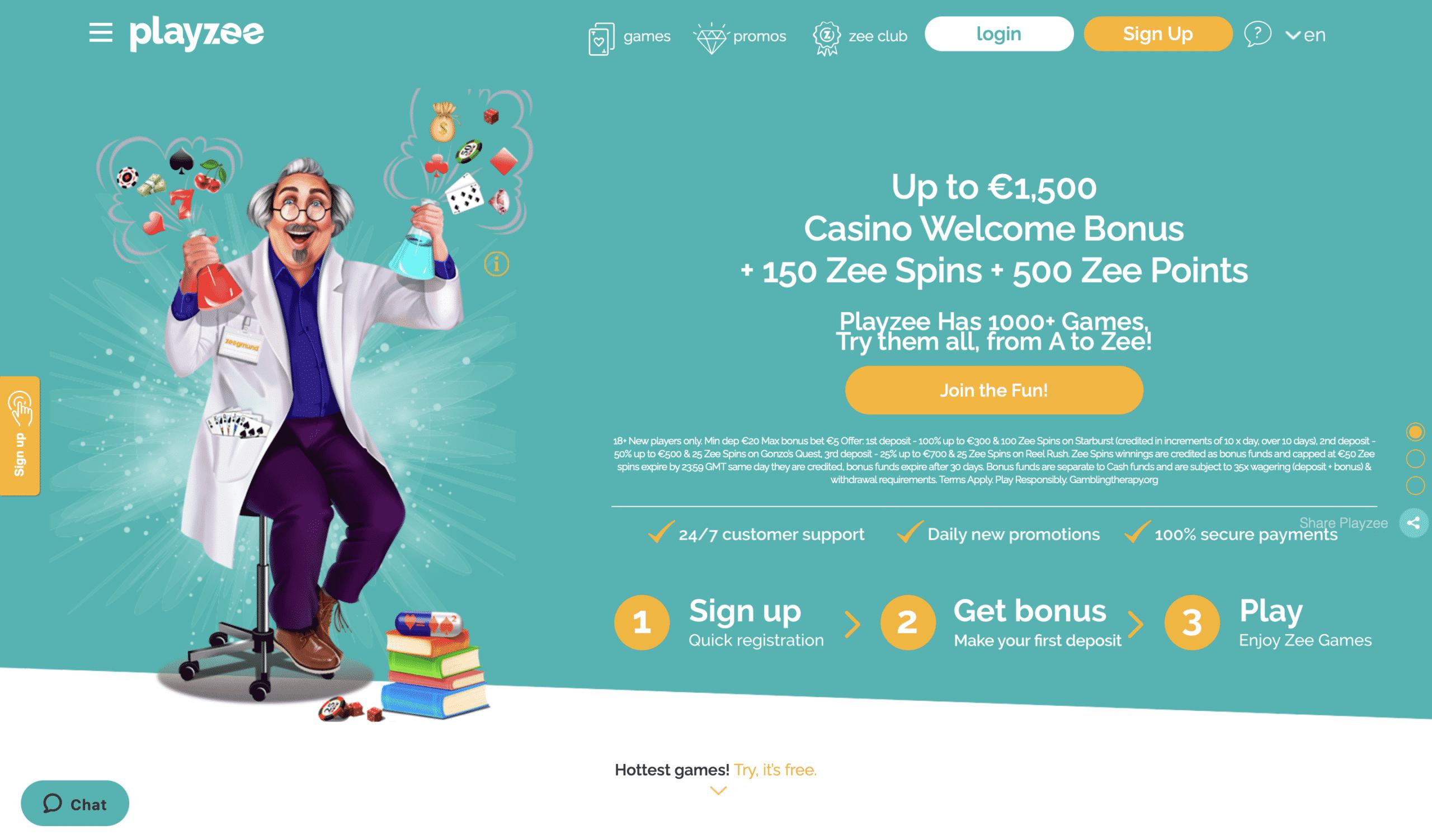 Playzee Homepage