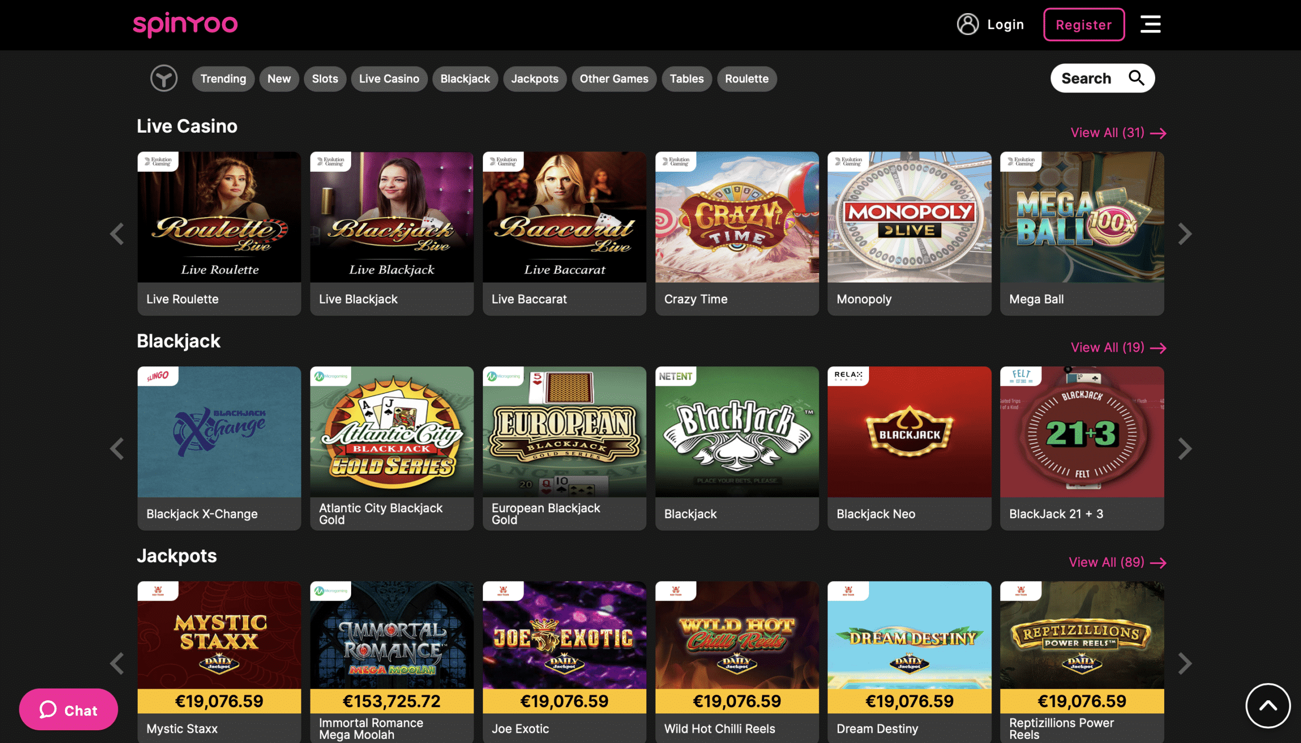SpinYoo Live Casino