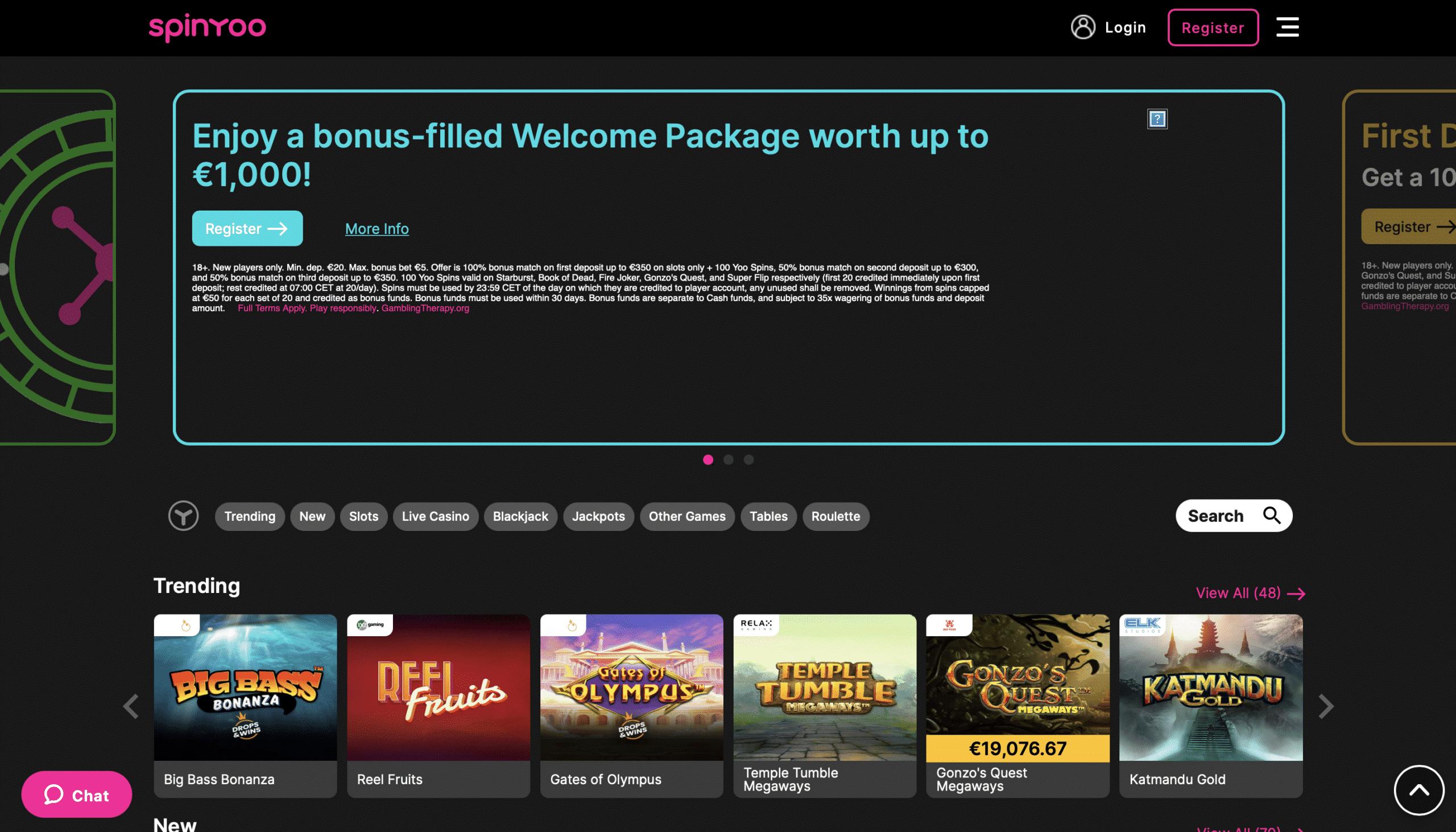 SpinYoo Homepage